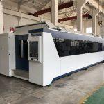 profesional cnc fiber laser cutting machine 1000w 1500w dengan meja pertukaran