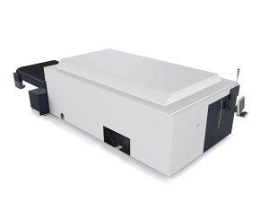 logam lembaran / tiub mesin pemotong laser industri dual motor high end cnc system