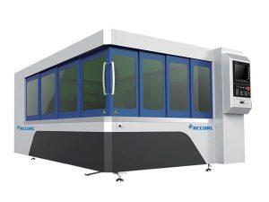 500w logam serat laser pemotong mesin bilah meja dengan sistem laluan cahaya