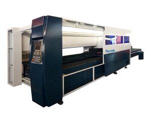 lembaran logam mesin pemotong laser industri 500w sistem perlindungan kandang