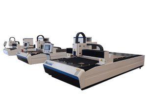 berketepatan tinggi serat laser memotong mesin dual linear motor untuk plat logam