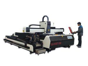 mini mesin pemotong laser kuasa tinggi, peralatan memotong serat laser dengan meja pertukaran