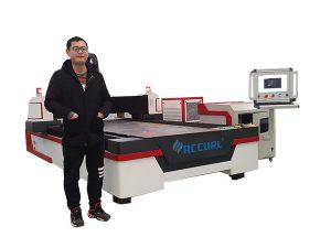 panduan linear memacu mesin pemotong paip cnc laser untuk tembaga / titanium