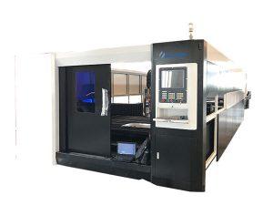 Serat 3000w serat cnc laser pemotong mesin gantry dua struktur memandu