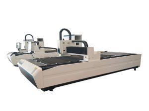 peralatan pemotong tiub laser penggunaan dua, mesin pemotong tiub laser cnc profesional